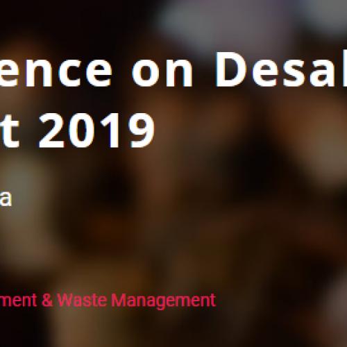 Conférence sur le dessalement et le traitement de l'eau 2019